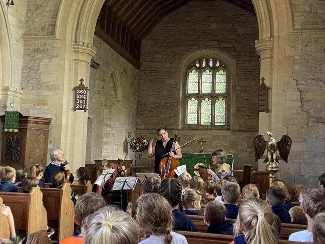 Sting quartet in Church