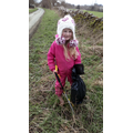 Sophie has been a hero this week - litter picking in the local community!