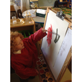 Artists at work - colour mixing with primary colours today!