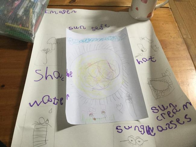 Imogen's fabulous sun safety poster!