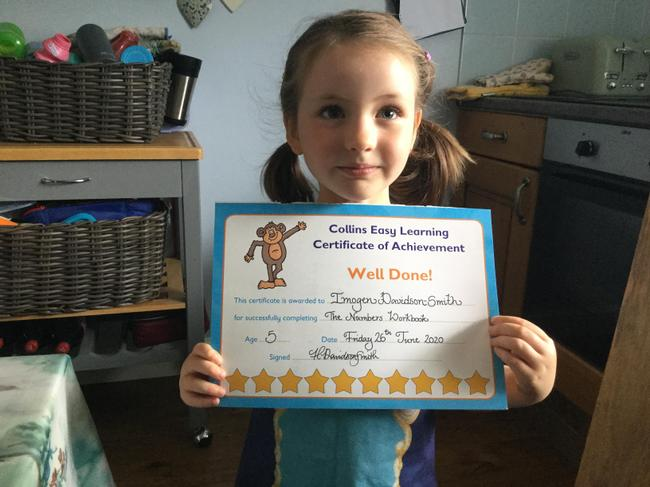 Imogen is working so incredibly hard at home! Well done Imogen.
