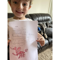 Jacob great RE and dragon drawing