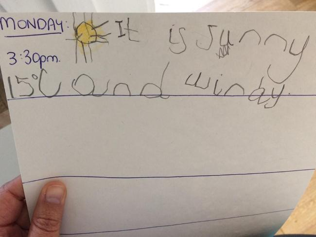 A super first day to James' great weather diary.