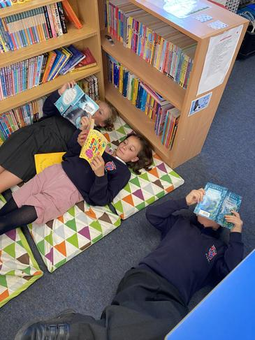 Chilling during guided reading