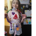 A beautifully colourful dreamcatcher from Lucia!