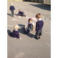 We drew round them to see how the size changes.