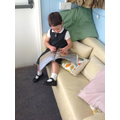 The reading corner always has a reader in!