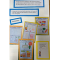 Healthy lunchboxes designed by year two children.