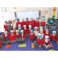 Look at all our lovely number and shape hats!