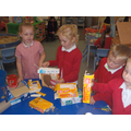 We used the boxes to make houses.