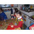Painting our salt dough Christmas tree decorations