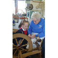 We used a spinning wheel.