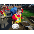 Making mud pies!