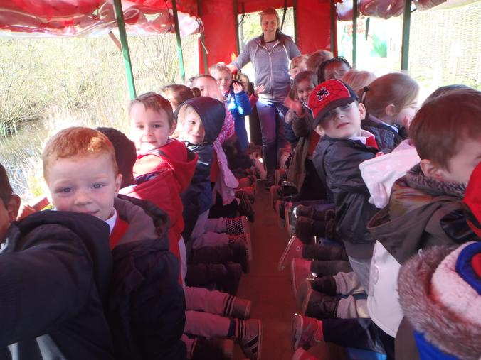 We had fun on our tractor ride!