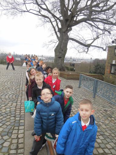 Standing on the Greenwich Meridian!