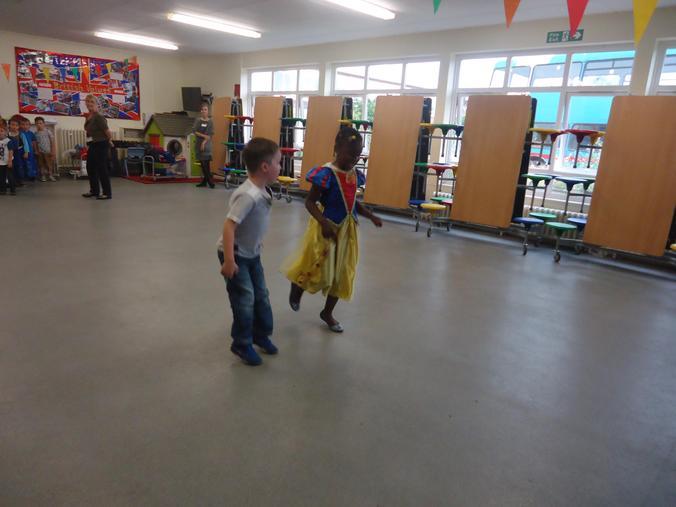 Jiggle dancing!