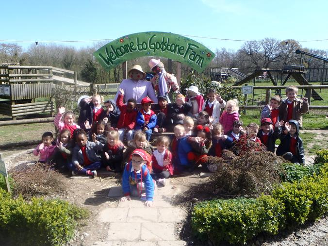 We posed for a photograph with the scarecrows!