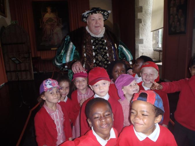 We met King Henry VIII!
