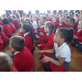 We joined in with Michael Rosen's actions.