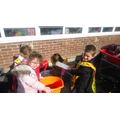 Water time maths. This bucket is heavy.