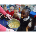 Tasting the soup was the most fun!