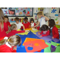 Year 4 help us to make our Anti-Bullying medals.