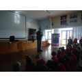 The visit from Michael Rosen, the author.