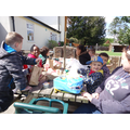 Lunch time - we were all so hungry!