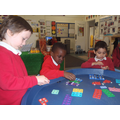 We have been using the numicon when counting.