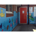 This is the door into the Reception Classrooms