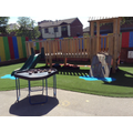 This is the Early Years outside area which we share with Nursery