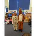 The Gingerbread Man and the horse