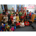 Goslings Class as their favourite book characters