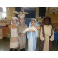 Mary, Joseph, Innkeeper and Donkey