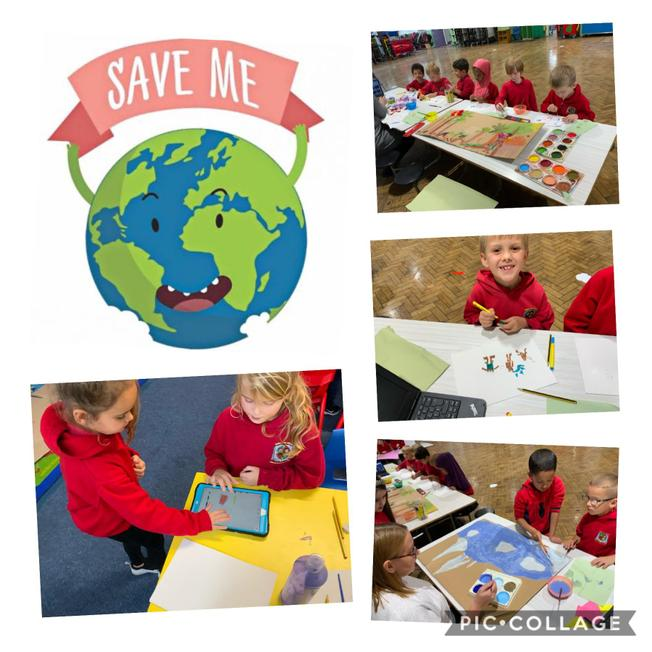 We worked in our groups to research and create a massive poster.