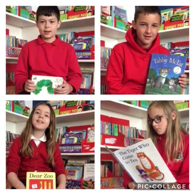 We have been recording videos of us reading stories for younger pupils in TRP