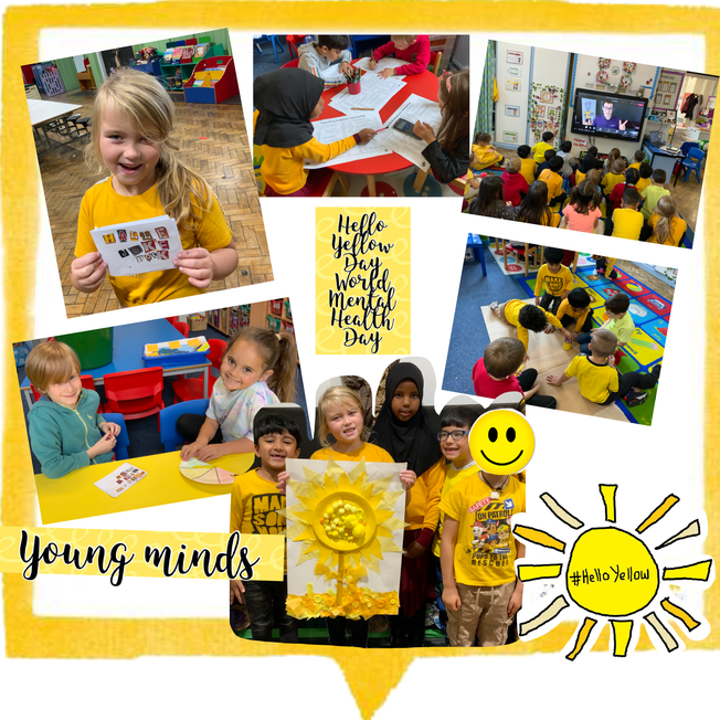 Hello Yellow Day World Mental Health Day supporting Young Minds