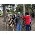 Building shelters in teams