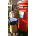 HG made a visit to the post box.