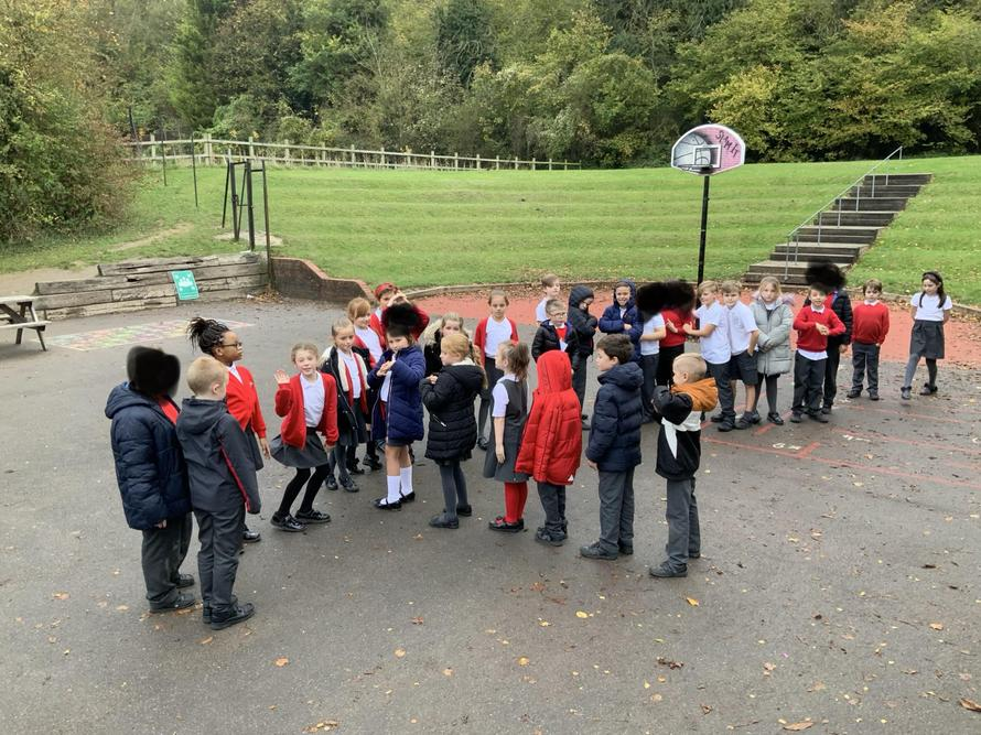 Year 4 learning about the parts of a river.