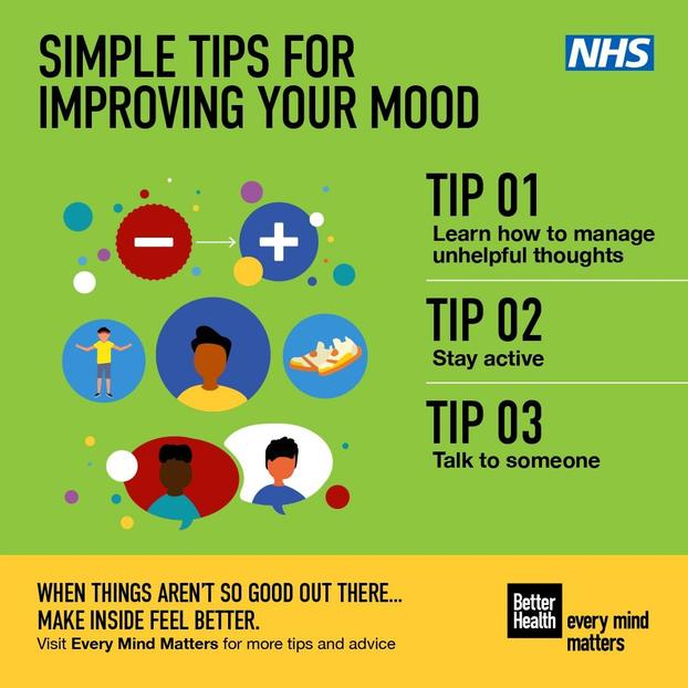 TOP TIPS FOR IMPROVING YOUR MOOD