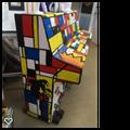 Piano fusion of Mondrian & Banksy