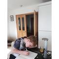 Craig hard at work