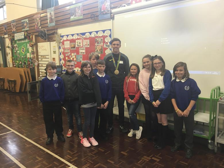 Our new Change4Life club met Joe after.