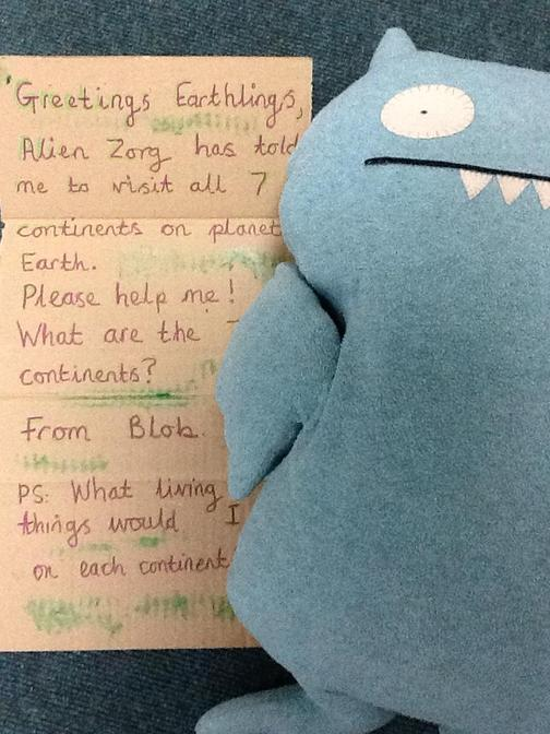 Can you read the letter from Blob today?