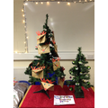 Year 2's Christmas decoration and gift bag stall