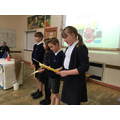 Our Bronze Sports Ambassadors introduce our guest.