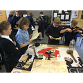 We were given some objects to examine.