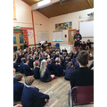 Ben Smith inspires the children.