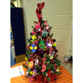 Year 4's candy cane decorations